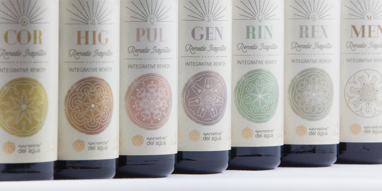 Packaging Remedios Integrativos de Secretos del Agua