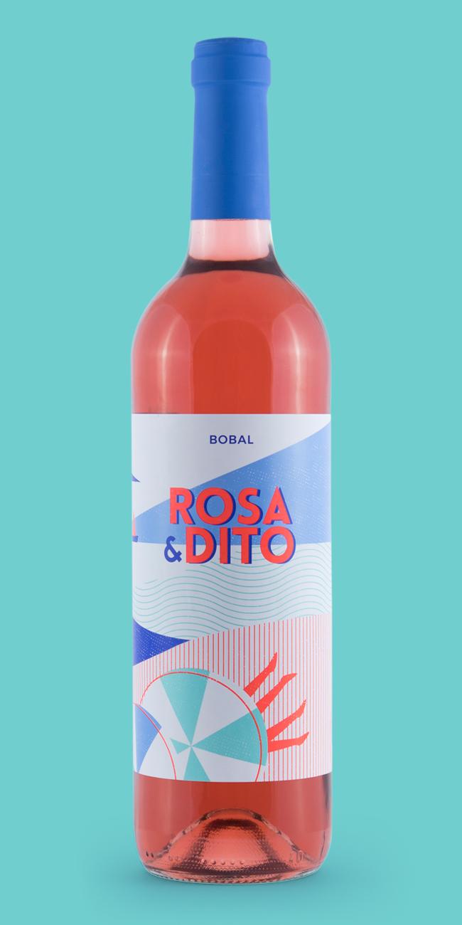Naming, marca y etiqueta vino Rosa and Dito