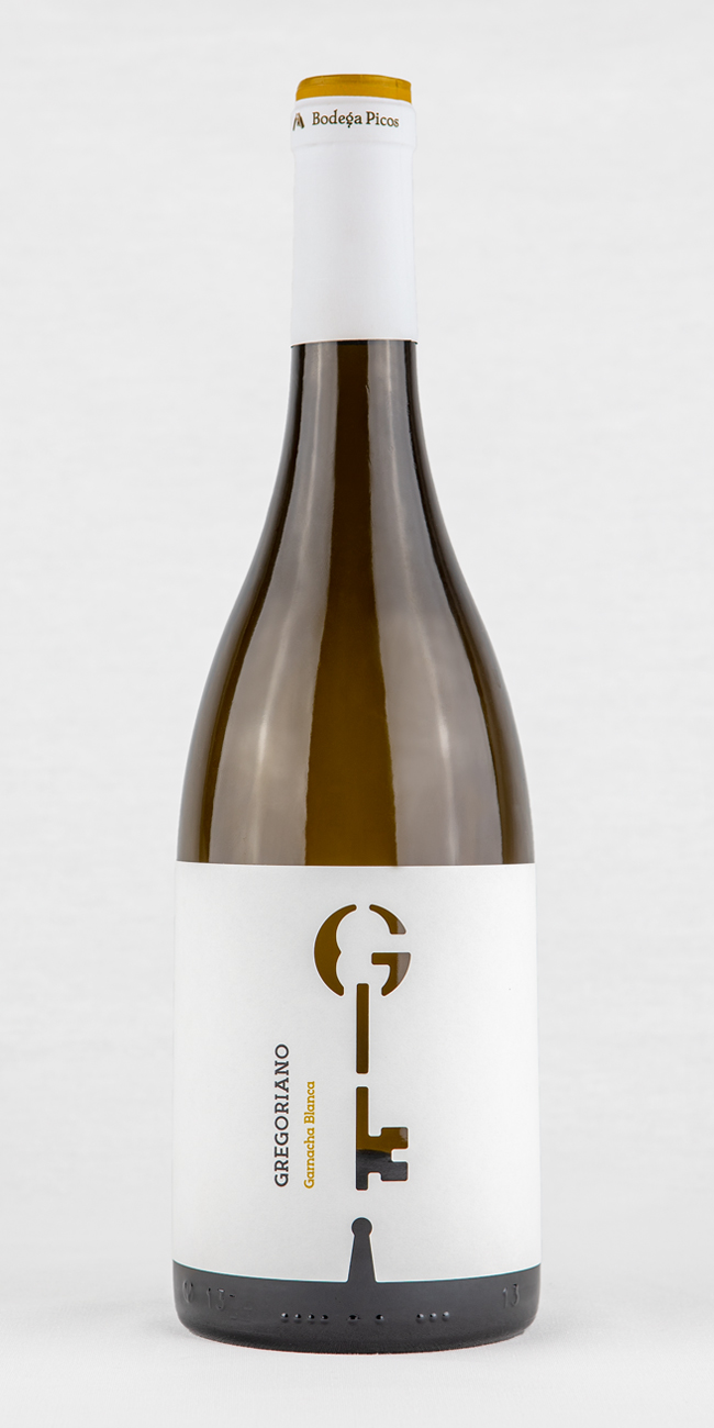 Marca y packaging vino blanco Gregoriano