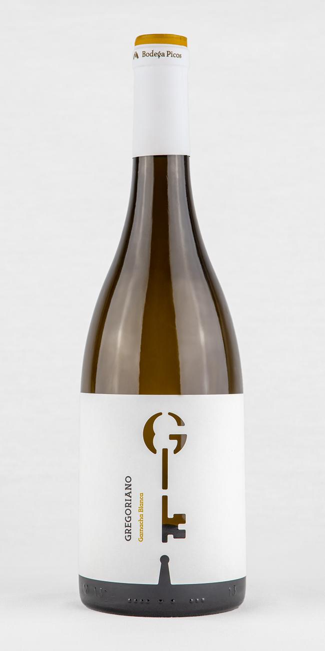 Marca y packaging vino blanco Gregoriano