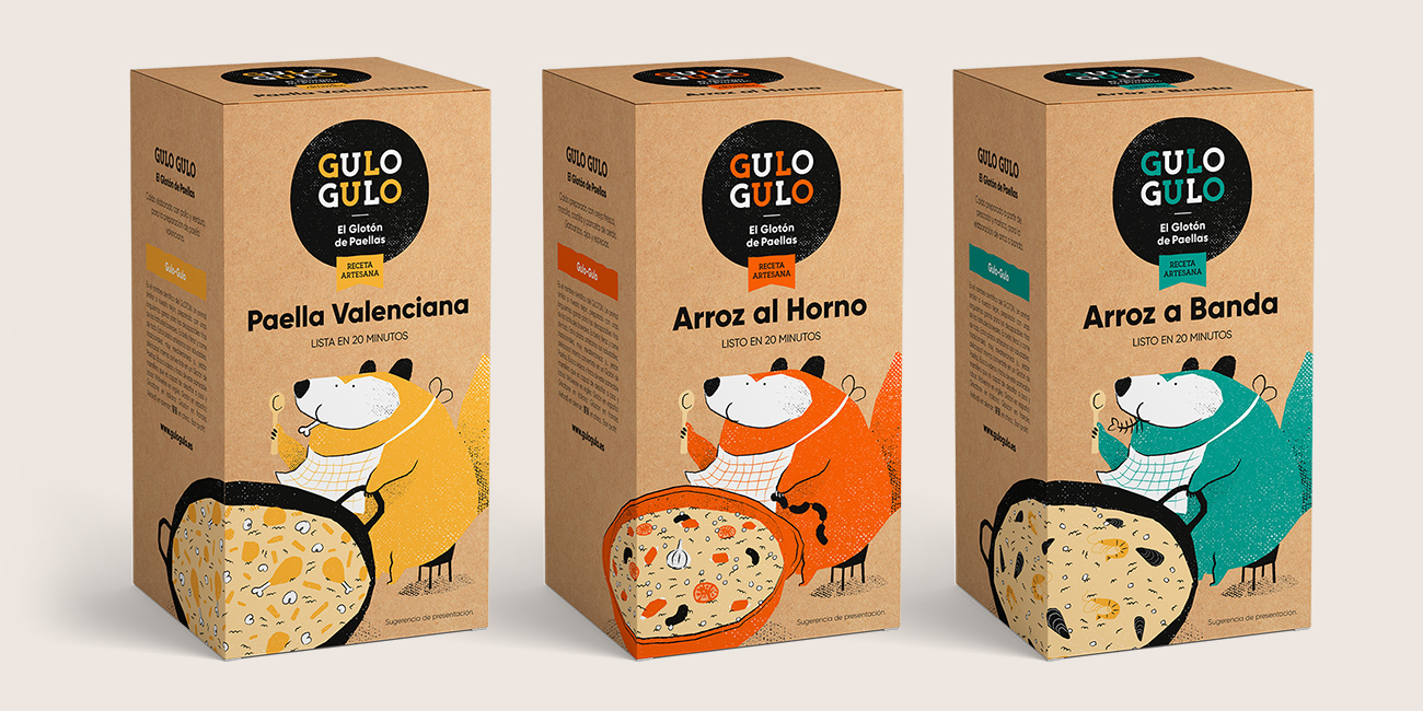 Marca y Packaging Gulo Gulo