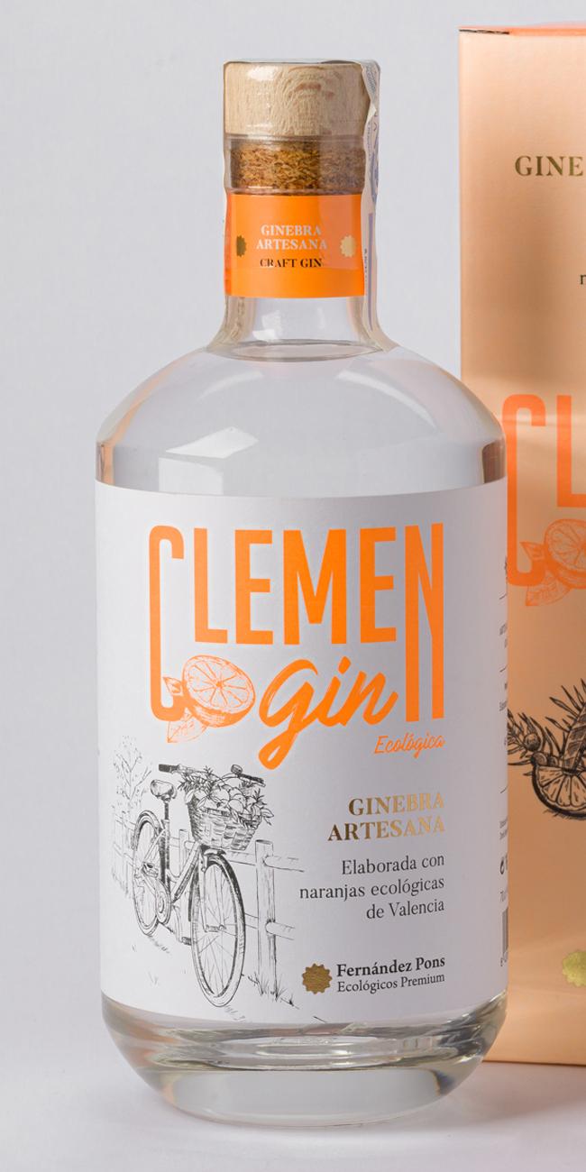 Naming, marca y packaging Clemen Gin