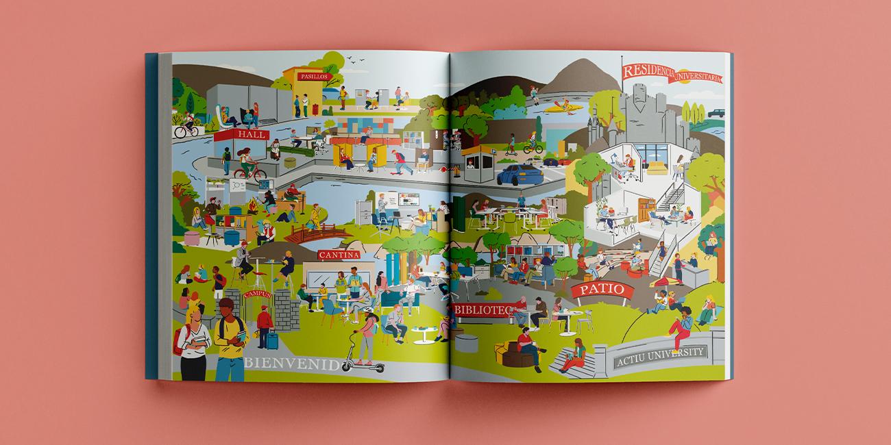 Diseño editorial revista Actiu Inspiration